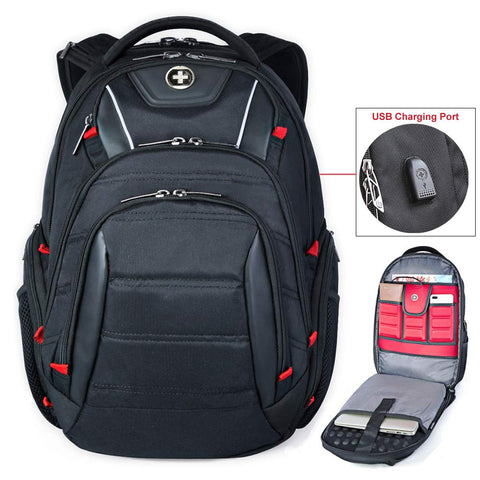 Business Travel Backpack TSA Laptop Backpacks USB/RFID in 15.6 Laptops for Men