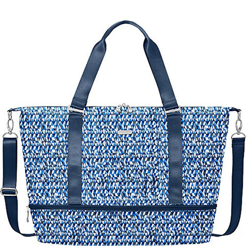 Baggallini Expandable Carry On Duffel, Blue Prism, One Size