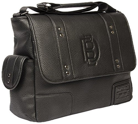 Buffalo David Bitton Men'S Ian Messenger Bag, Black, One Size