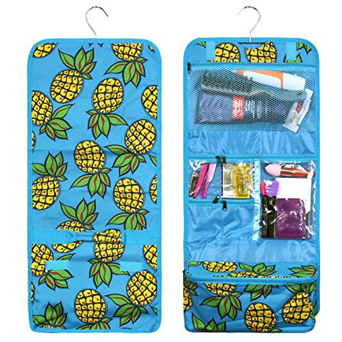 Zodaca Travel Hanging Cosmetic Toiletry Organizer Carry Bag, Pineapple