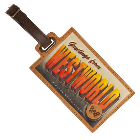 Westworld Science Fiction Western Thriller Pu Luggage Tag
