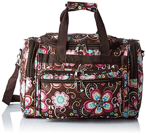 World Traveler Women'S Value Series 16-Inch Carry Duffel Bag, Brown Daisy, One Size