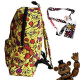 Fnaf Five Nights At Freddy'S School Backpack Luggage Bag With Lanyard (Fnaf Cheese Melt)