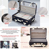 Unitravel Vintage Suitcase Set Spinner Travel Hardside Luggage Sets Pu Trunk