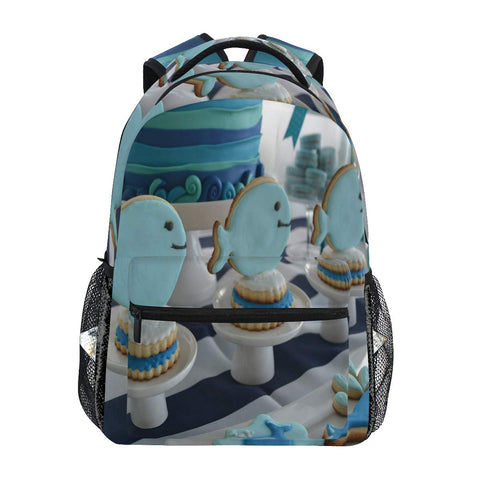 Backpack Baby Whale Themed School Bags Bookbags for Teen/Girls
