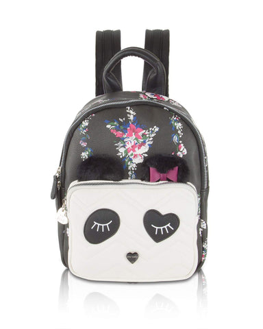 Betsey Johnson Women's Kitsch Backpack Black Floral One Size