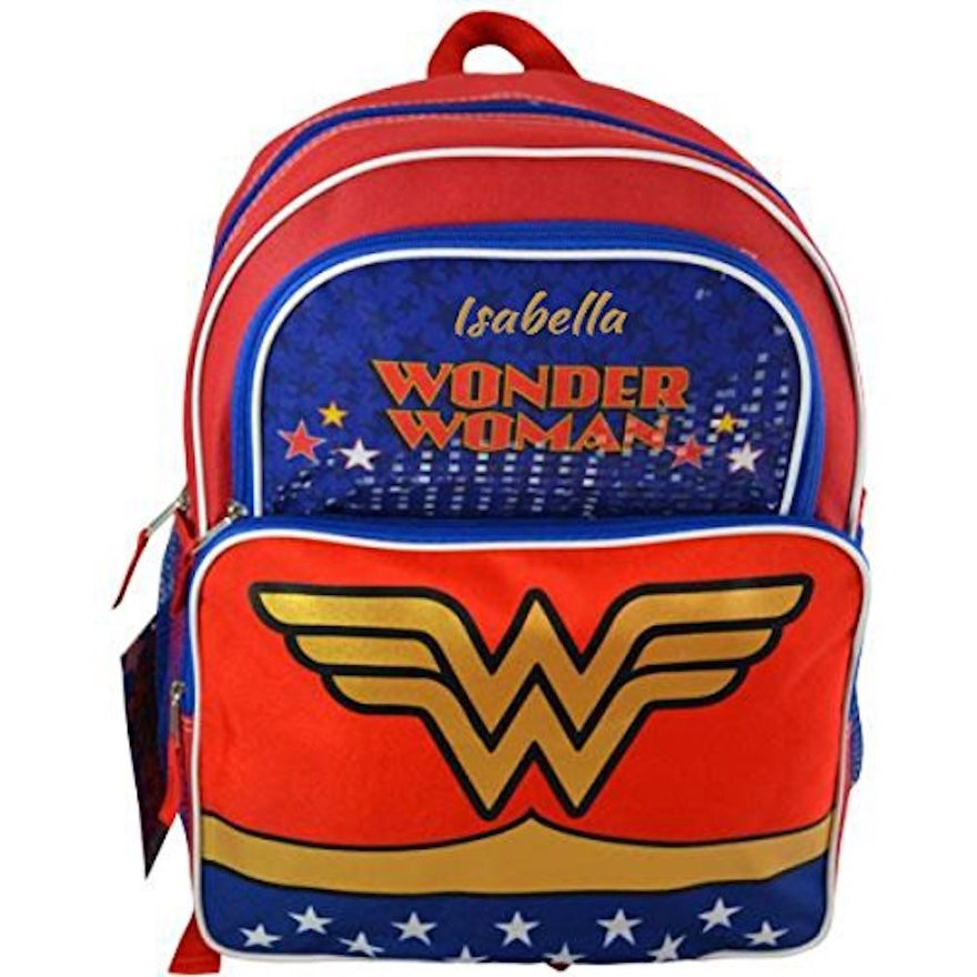Personalized Superhero Backpacks (Wonder Woman)