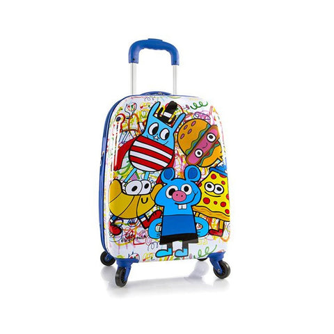 "Heys Jon Burgerman Unisex 20"" Hardside Spinner Expandable Carry On Luggage"