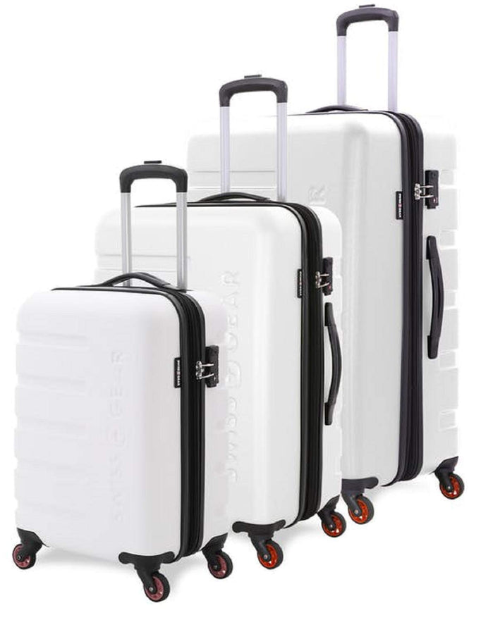 SWISSGEAR 3 PC 7366 Expandable Hardside Spinner (Set, White)