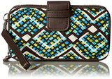Rfid Smartphone Wristlet Wallet, Rain Forest, One Size