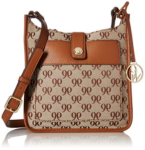 Nine West Women's Aspen Crossbody, Khaki-Brown/Tobacco