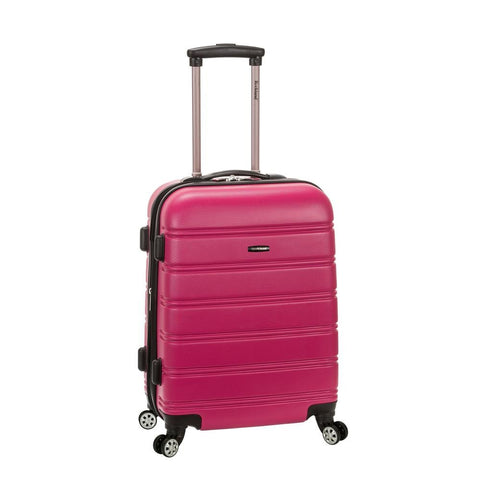"MELBOURNE 20"" EXPANDABLE ABS CARRY ON MAGENTA"