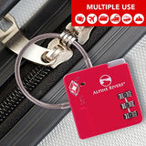 UltraFlex TSA Approved Lock with RED OPEN ALERT Indicator for Luggage & GYM Lockers
