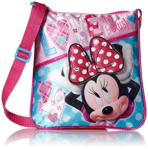 Disney Girls' Minnie Crossbody Love My Bows, pink