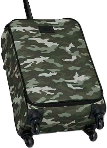 Pink Wheelie Carry On Travel Luggage Color Camo Print New