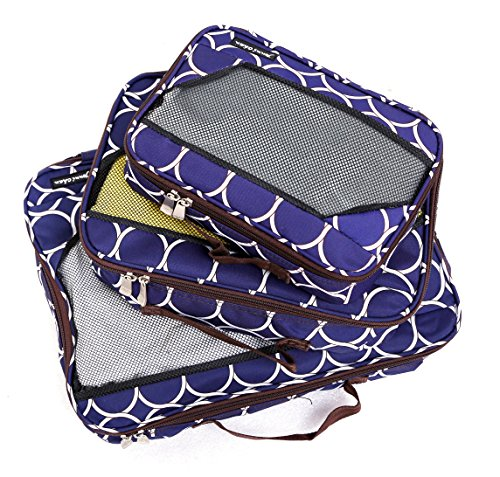 Jenni Chan Aria Park Ave Packing Cube 3pc Set, Navy