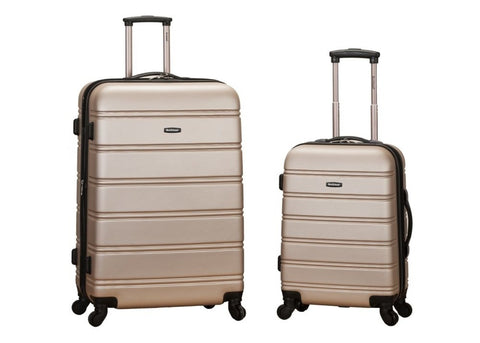 Rockland 20 Inch 28 Inch 2 Piece Expandable Abs Spinner Set, CHAMPAGNE