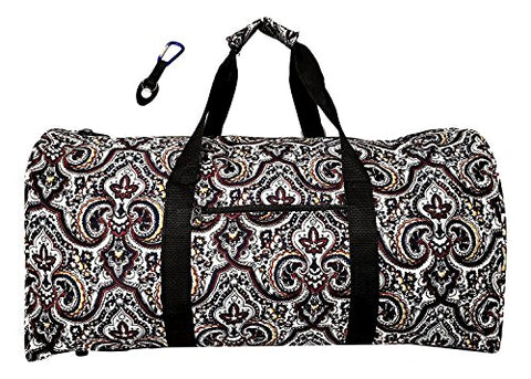 21 in Print Duffle, Overnight, Carry on Bag with Outside Pocket and Shoulder Strap (Personalized