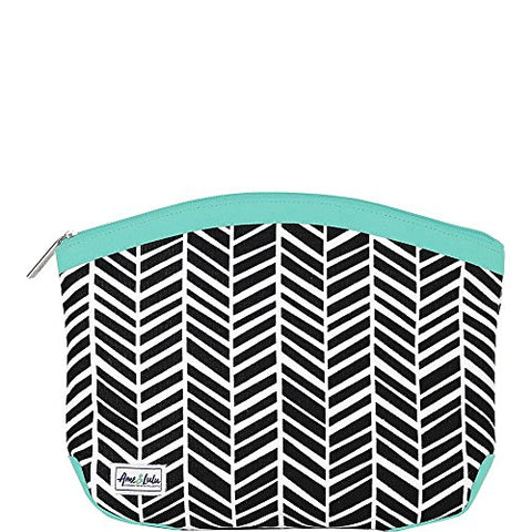 Ame & Lulu Kiss And Makeup Beauty Bag (Black Shutters)