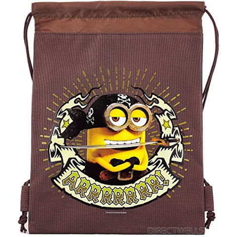 Despicable Me Minions Authentic Licensed Drawstring Bag Backpack (Brown)