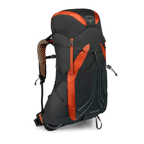 Osprey Packs Exos 38 Backpacking Pack, Blaze Black, Large
