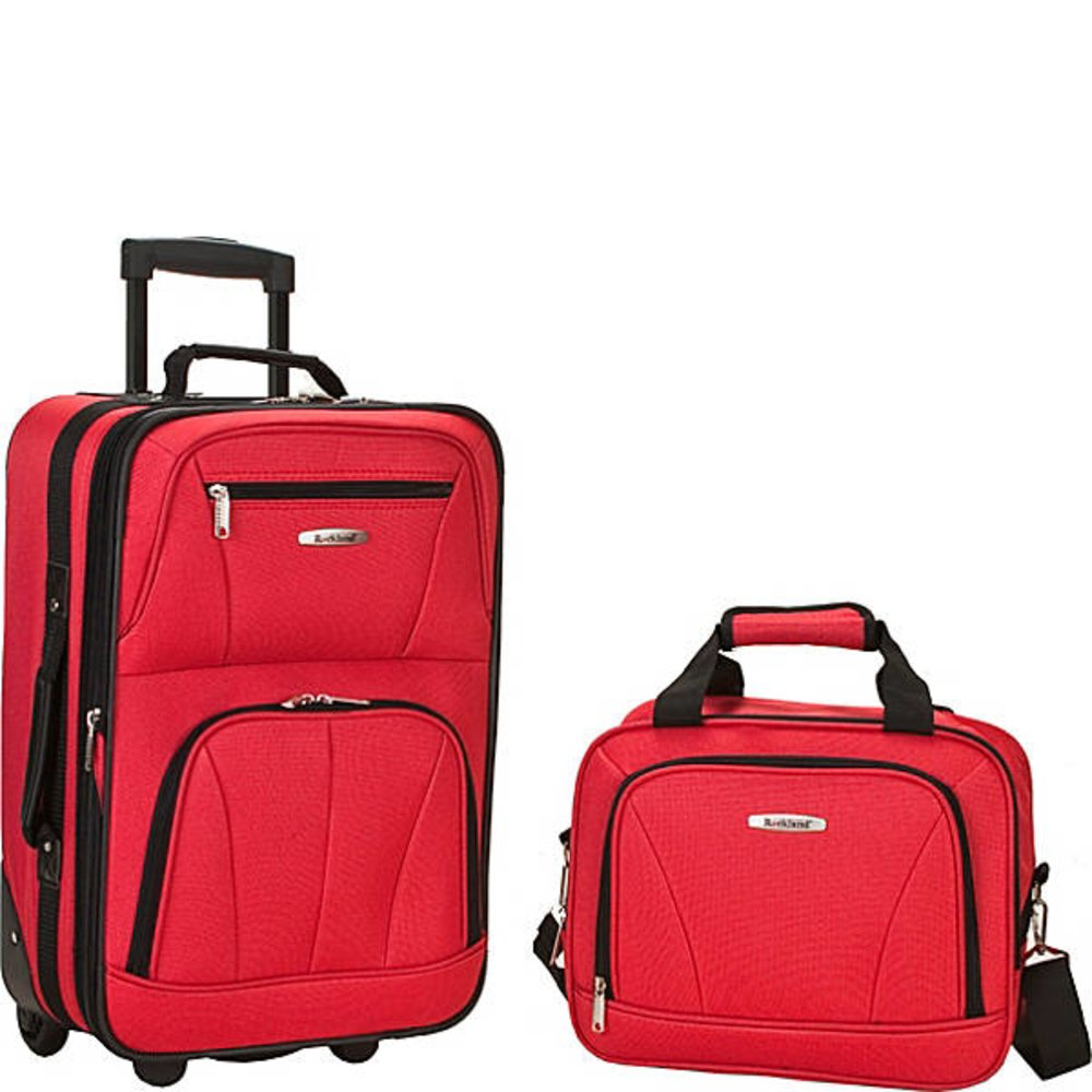 Rockland 2 Piece Luggage Set Red