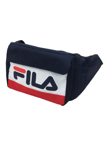 Fila Lindon Waist Cross Over Bag in Peacoat/White/Chinese Red