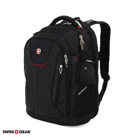 SWISSGEAR 5358 USB Charging SCANSMART ULTIMATE Organization LAPTOP PROTECTION BACKPACK - BLACK/RED