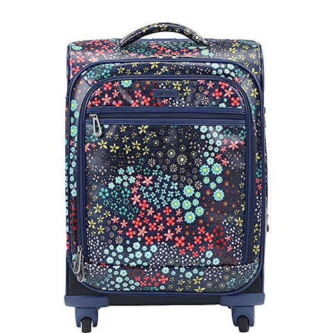 Sakroots Artist Circle Rolling Carry On (Navy Floral Spirit)