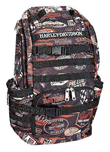 Harley-Davidson Night Ops Stellar Backpack, Black 99214-Vintage