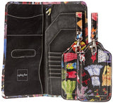 Sydney Love New Wardrobe Passport Holder and Luggage Tags,Black Multi,one size