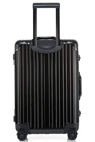Swivel Wheel Trolley Case, Aluminum Frame Travel Case, Swivel Wheel Trolley Case + Pc Vertical Suitcase, Black, 24 inch