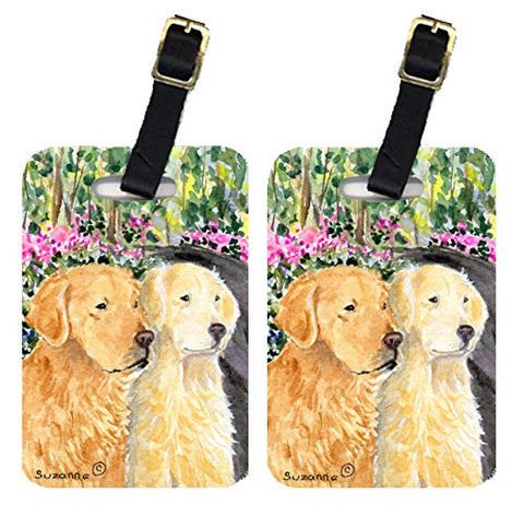 Carolines Treasures Ss8974Bt Golden Retriever Luggage Tag - Pair 2, 4 X 2.75 In.