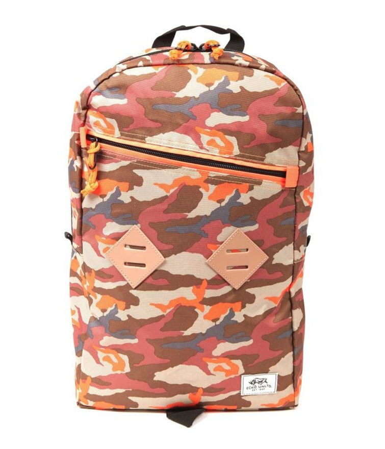 Ecko Unltd. Unisex Camo Pop Zipper Everyday Backpack, Orange, Medium (23 in. - 25 in.)