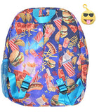 Gift Set Tasty Treats Themed Large Backpack & Clip Keychain (Fast Food)