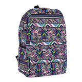 Damara Womens Creative Geometric Figure Printed Backpack,Purple