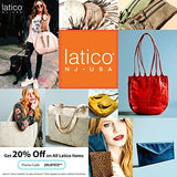 Latico Leathers Sonia Tote Genuine Authentic Luxury Leather, Designer Made, Business Fashion and Casual Wear, Distressed Brown