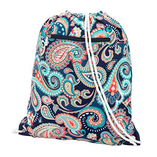 Backpack Style Drawstring School Gym Bag - Emerson Paisley
