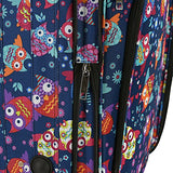 Elite Luggage Owls Carry-on Rolling Luggage, Multi-color