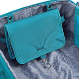 DELSEY Paris Hyperglide 3 Piece Luggage Set Carry On & Checked Spinner Suitcases, Teal Blue