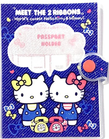 Glitter Cover Hello Kitty Passport Holder Organizer W/ Ziplock Pocket & Card Slots