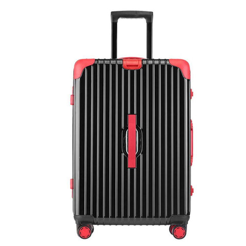 Suitcase, Aluminum Frame Trolley Case, Universal Wheel Luggage Code Suitcase High-Grade Aluminum Frame, Black, 24 inch