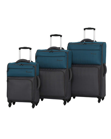 it luggage DuoTone 4 Wheel 3 Piece Set, Moroccan Blue/Magnet