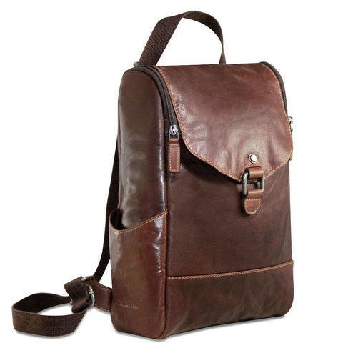 Jack Georges Voyager Collection Convertible Crossbody Backpack Brown