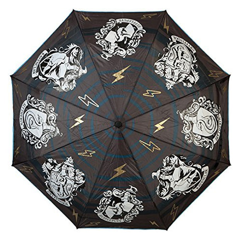 Bioworld Harry Potter House Crests Liquid Reactive Color Changing Compact Umbrella