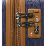 Dejuno Monroe 3-Piece Hardside Spinner Tsa Combination Lock Luggage Set, Blue