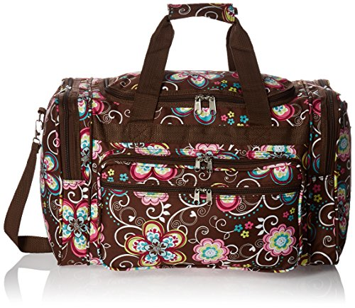 World Traveler Women'S Value Series 19-Inch Carry Duffel Bag, Brown Daisy, One Size