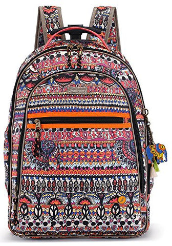Sakroots Women'S York Rolling Backpack, Camel One World