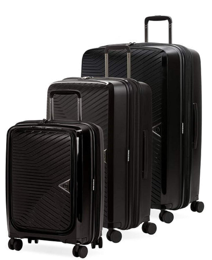 SWISSGEAR 8836 Ultra Durable/Extreme Tough Expandable Spinner, 3-Piece Set - Black