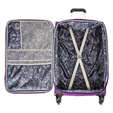 "Skyway Mirage 2.0 | 3-Piece Set | 20"" and 24"" Expandable Spinners, Travel Pillow (Purple Magic)"